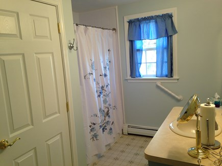 South Dennis Cape Cod vacation rental - First Floor Full Bath has Walk-In Shower and Washer and Drier