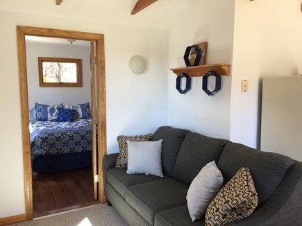 Truro Cape Cod vacation rental - Brand new Couch opens to a double sleeper