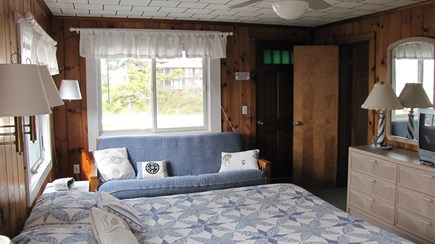 Truro Cape Cod vacation rental - Partial view of bedroom, futon opens to bed