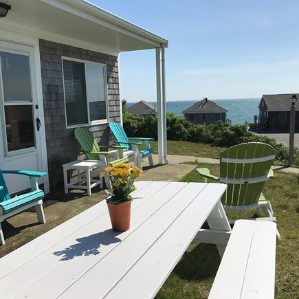 Truro Cape Cod vacation rental - Patio with views to bay and all the sunsets