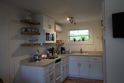 Truro Cape Cod vacation rental - Full kitchen has everything except a dishwasher