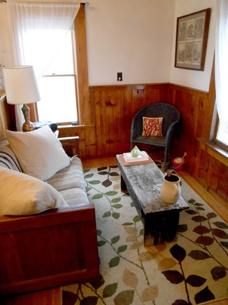 Truro Cape Cod vacation rental - Living room space with single futon for extra sleeping