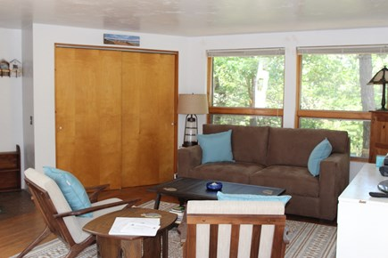 Truro Cape Cod vacation rental - Living Room with new couch and chairs