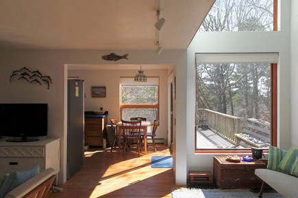Truro Cape Cod vacation rental - Living to dining and deck