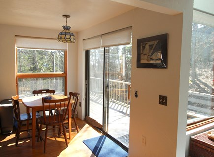 Truro Cape Cod vacation rental - Dining is adjacent to the kitchen and has slider to the deck