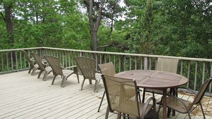 Truro Cape Cod vacation rental - Dining on the deck