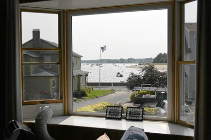 Onset MA vacation rental - View from the front window. Watch the canal cruise leave!
