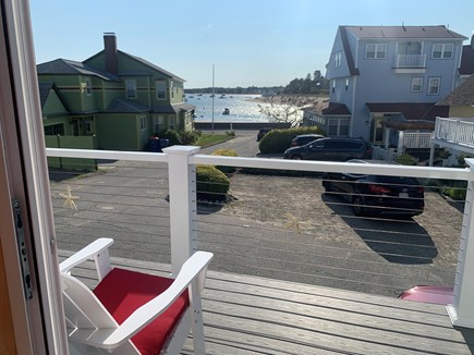 Onset MA vacation rental - View from the new front deck. We'll save you a chair!