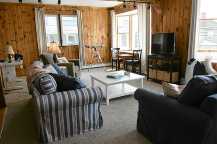 Onset MA vacation rental - Roomy living area with TV, if you get tired of the views.