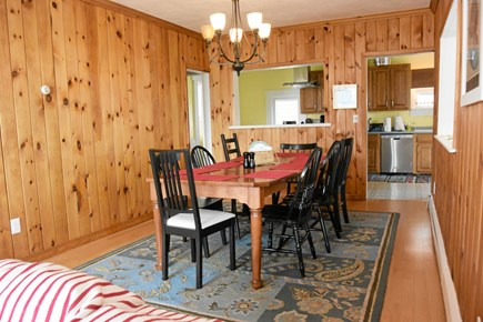 Onset MA vacation rental - Dining area seats 10. Fiestaware service for 12, but don't cook!