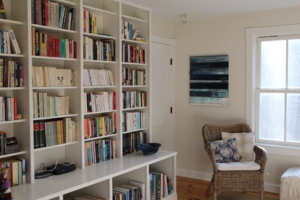 Truro Cape Cod vacation rental - Partial view of the library - lots of reading material