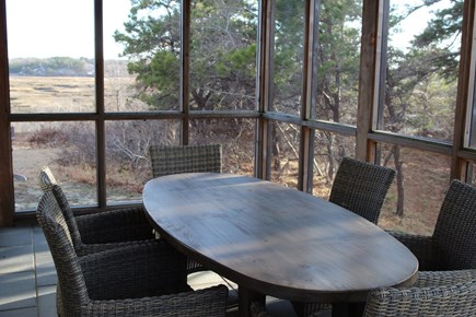Truro Cape Cod vacation rental - Perhaps you'll enjoy casual dining on the screen porch