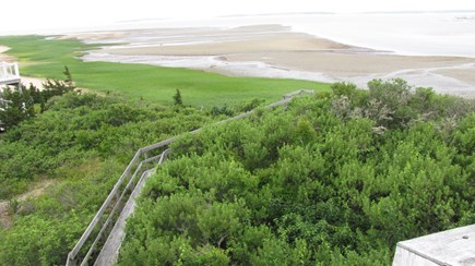 Wellfleet Cape Cod vacation rental - Walkway through the beachplum bushes to beach below