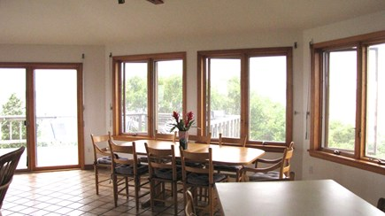Wellfleet Cape Cod vacation rental - Kitchen to dining with deck beyond
