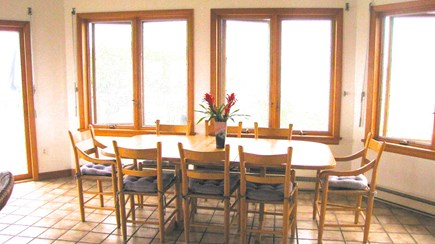 Wellfleet Cape Cod vacation rental - Views galore from the large dining table