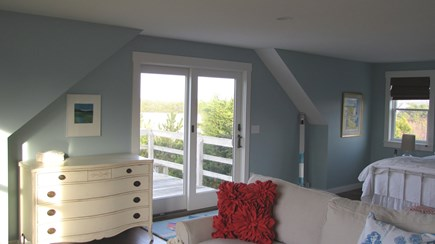 Truro Cape Cod vacation rental - Master bedroom opens to the second level deck