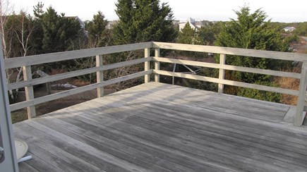 Truro Cape Cod vacation rental - The deck is quite large and summer furniture is perfect out there