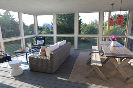 Truro Cape Cod vacation rental - Spacious screened porch offers seating and dining options