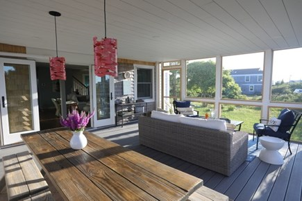 Truro Cape Cod vacation rental - Screened Porch has direct access from the kitchen and living room