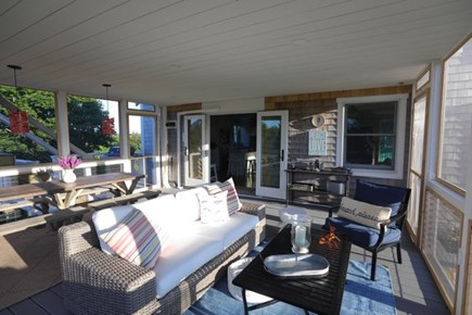 Truro Cape Cod vacation rental - Another angle of the screened porch