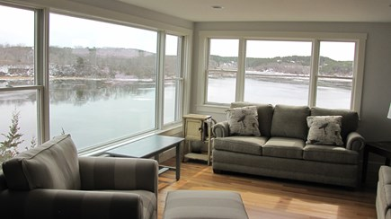 Truro Cape Cod vacation rental - High tide from the living room