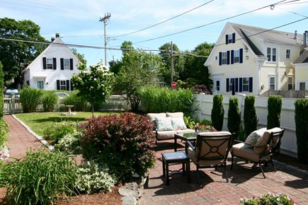 Provincetown Cape Cod vacation rental - Lounge area in side yard