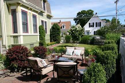 Provincetown Cape Cod vacation rental - Lounge area adjacent side entry to house