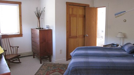 Truro Cape Cod vacation rental - Main bedroom with queen bed open to full bath