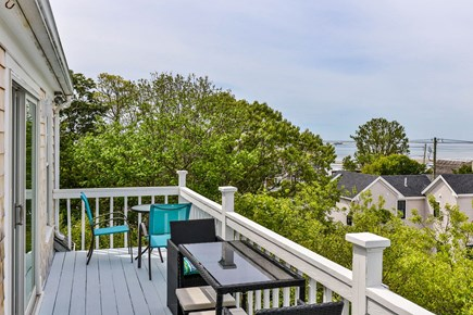 Provincetown Cape Cod vacation rental - 2nd Floor deck with water views, outside dining, umbrella, grill