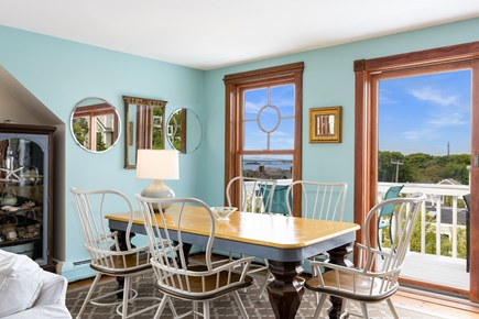 Provincetown Cape Cod vacation rental - Dining Area with doors out to deck and spectacular views