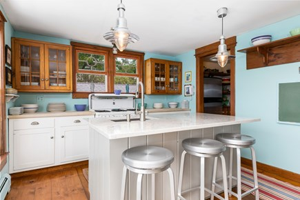 Provincetown Cape Cod vacation rental - Kitchen with island and large walk-in pantry