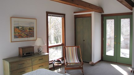 Truro Cape Cod vacation rental - Master Bedroom Opens to a small deck