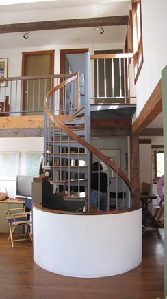 Truro Cape Cod vacation rental - Stairway between levels
