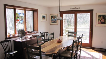 Truro Cape Cod vacation rental - Everyone admires the handsome dining table