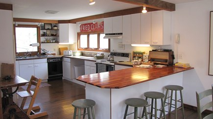Truro Cape Cod vacation rental - Seating for all the sidebar cooks