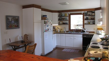 Truro Cape Cod vacation rental - Full kitchen with electric stove