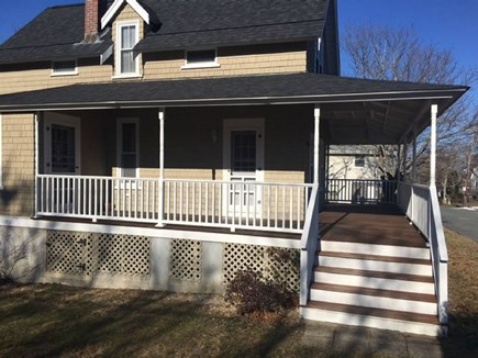 Falmouth Cape Cod vacation rental - Front Steps to Farmers Wrap Around Porch