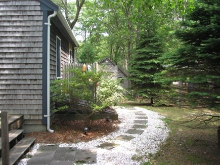 Eastham Cape Cod vacation rental - Outdoor shower (back yard)