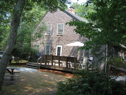 Eastham Cape Cod vacation rental - Back yard and deck