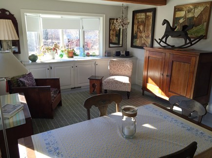 Orleans Cape Cod vacation rental - Living area with dining table