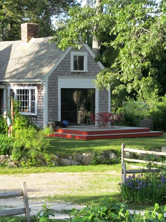 Orleans Cape Cod vacation rental - Front Yard Deck off of main living area