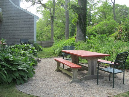 Orleans Cape Cod vacation rental - Back Yard Picnic Table area with grill