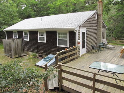 Truro Cape Cod vacation rental - Back of home with deck and enclosed outdoor shower
