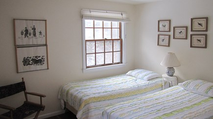 Truro Cape Cod vacation rental - Bedroom with two twin beds