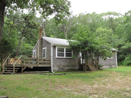 Truro Cape Cod vacation rental - View of House with deck from driveway