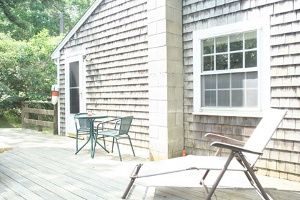 Truro Cape Cod vacation rental - Deck has extra furniture, grille and is very peaceful