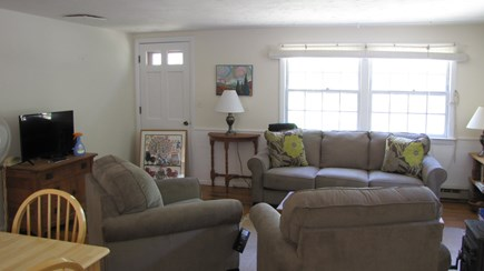 Truro Cape Cod vacation rental - Living area with comfy new furniture