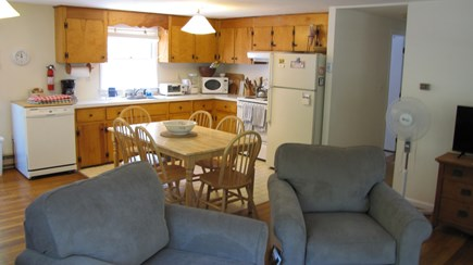 Truro Cape Cod vacation rental - Living room looking to kitchen and dining