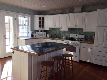 West Yarmouth Cape Cod vacation rental - Kitchen with tiled Island and two sinks and water view