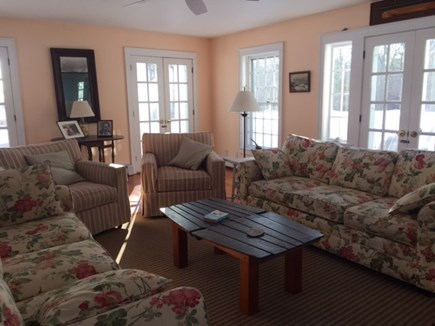 West Yarmouth Cape Cod vacation rental - Living room looking toward loggia